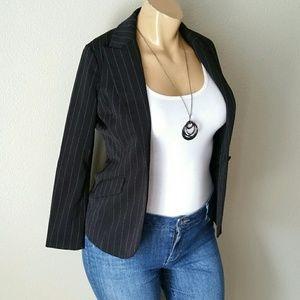 Spiegel Black White Striped Blazer
